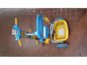 Tribici triciclo prima infanzia bimbo bimba blu con maniglia