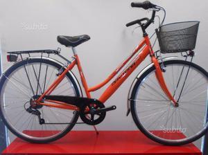 Bici donna city bike arancio nuova