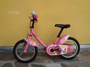 Bicicletta bambina rosa misura 14