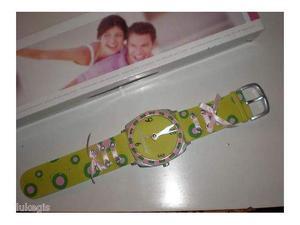 Brandani - orologio da parete in poliresina verde - nuovo