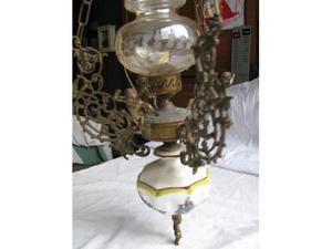 Lampadario ceramica e bronzo