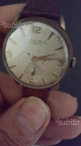 Orologio VINTAGE XL- AVIA anni 50 anse fisse