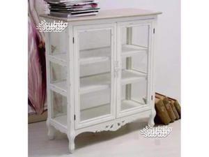 Credenza Con Vetrina Bianca : Vetrina bianca shabby in legno a napoli posot class