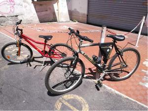 2 mountain bike in blocco: 26'' uomo e 24'' donna/bambina