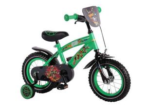 Bici bicicletta bambino turtles ninja 12 pollici in acciaio