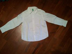 Camicia bianca Benetton per bambino 4/5 anni