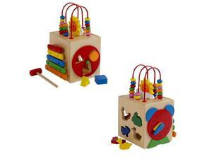Cubo didattico gioco motricità per bambini con xilofono e