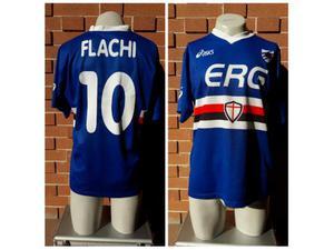 Maglia sampdoria 10 flachi calcio football soccer shirt