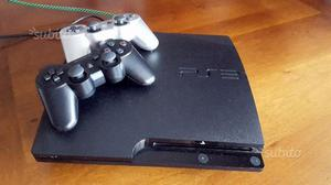 PS3 Slim 160 GB Nero+ 2 Controller Dualshock 3