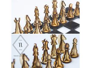 Puzzle 3d scacchi in legno da montare