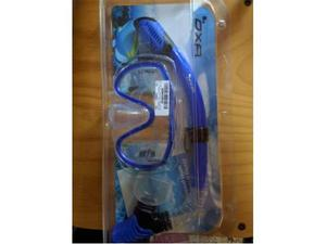 Set OXA per immersioni con snorkel Dry e maschera in vetro