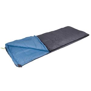 Camp Gear Sacco a Pelo Comfort Deluxe 220x90 cm Grigio e Blu