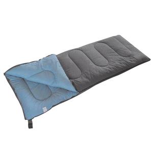 Camp Gear Sacco a Pelo Comfort Plus 220x90 cm Grigio e Blu