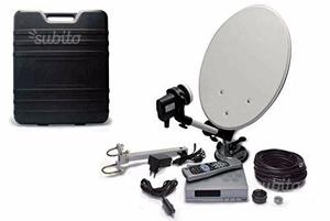 Kit camper Decoder Satellitare DVB-S con antenna