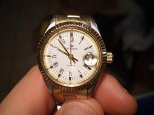 Orologio Pryngeps Vintage Quartz Tempo Data Donna