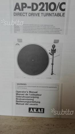 Piatto giradischi stereo