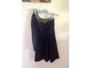 Vestito nero monospalla Zara