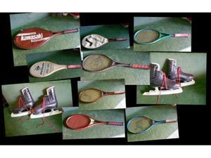 Vintage: racchette tennis e pattini ghiaccio