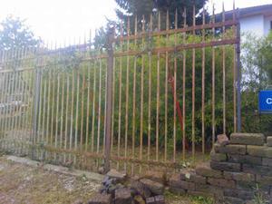 Antico cancello ferro battuto 4.50x2.80 m. accorciabile.
