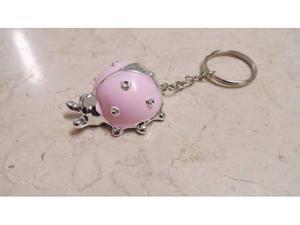 Bomboniera nascita battesimo coccinella rosa