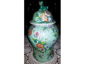 Grande Vaso Cinese con coperchio cane 52 x 30 cm