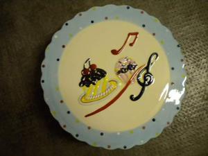 Porta torta in ceramica