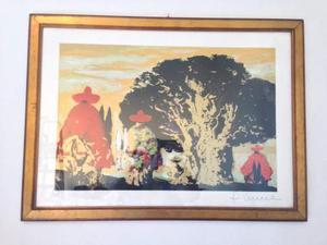SALVATORE FIUME Serigrafia 40X60 Messicani