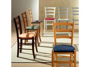 Sedie per ristoranti pizzeria mod. Venezia legno colorato