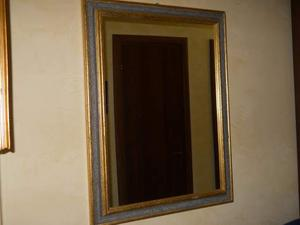 Specchio in legno oro