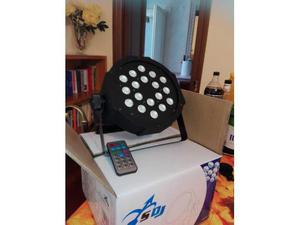 Faro par led slim 18x1 watt con telecomando