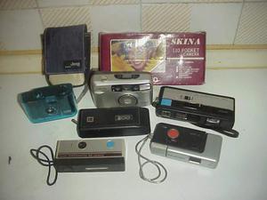 Lotto 7 fotocamere vintage collezione macchine fotografiche