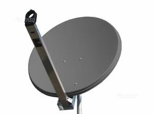 Parabola TVSAT con cavo ed Antenna TV con palo