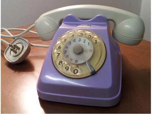 Telefono disco vintage shabby chic