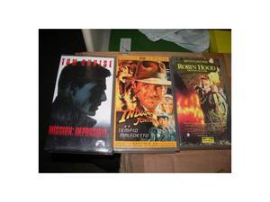 Blocco di 4 film cult in videocassetta vhs (originali) Robin
