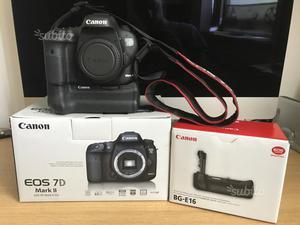 Canon EOS 7D mark II garanzia battery originale