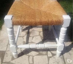 Sedie legno massello bianche
