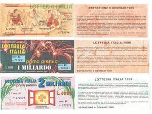 24 biglietti usati da collezione lotteria Italia