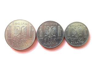 """3 monete """"Albania italiana"""" (LEK)"""