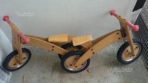 Bici in legno bimbi