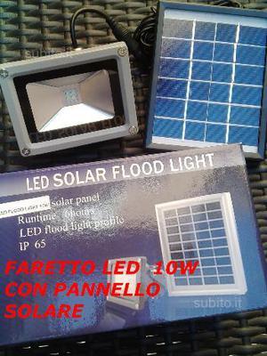 Faretto led 10w con pannello solare-nuovo-