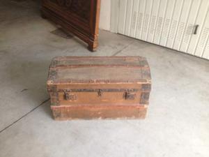 Cassapanca antica legno e ferro