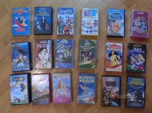 Cassette VHS di cartoni animati vari