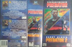 PREDATOR 1 e 2 box set VHS