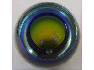 Posacenere in vetro sommerso bicolore anni 60