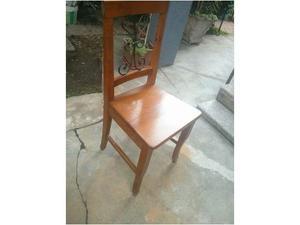 Set sedie in legno massiccio (noce)