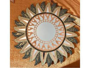 Specchio etnico a forma di sole posot class - Specchio a forma di sole ...