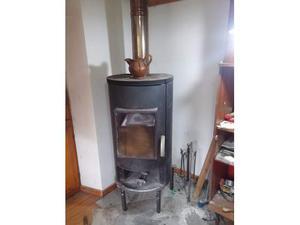 Stufa a legna in inox la fagagnese posot class - Radiatore per stufa a legna ...