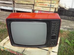 Tv grundig anni 80 col. rosso