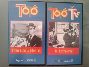 VHS originali, videocassette varie Totò e altri