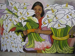 Venditrice di fiori,copia di Diego Rivera